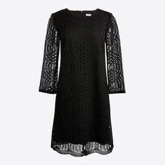 J.Crew Factory Three-quarter sleeve lace shift dress