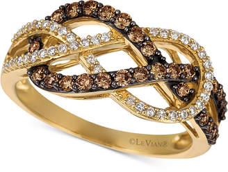 LeVian Le Vian Chocolatier Diamond Weave Ring (5/8 ct. t.w.) in 14k Gold
