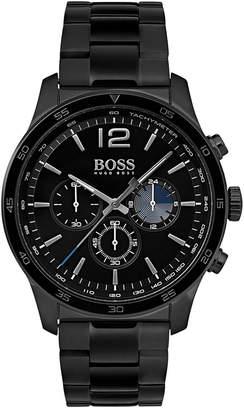 BOSS Hugo Men's Chronograph Professional Black Stainless Steel Bracelet Watch 42mm