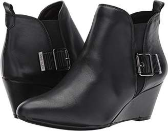 Anne Klein Women's ANNI Leather Ankle Boot