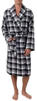 Fruit of the Loom Men's Flannel Shawl Collar Robe