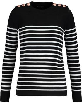 Petit Bateau Striped Cotton Sweater $139 thestylecure.com