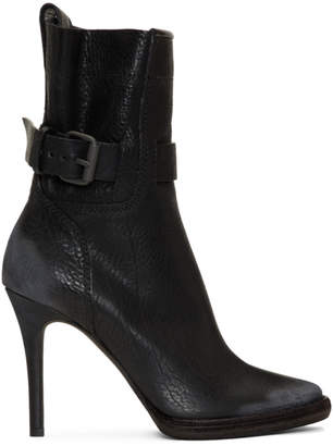 Haider Ackermann Black Varo Buckle Boots