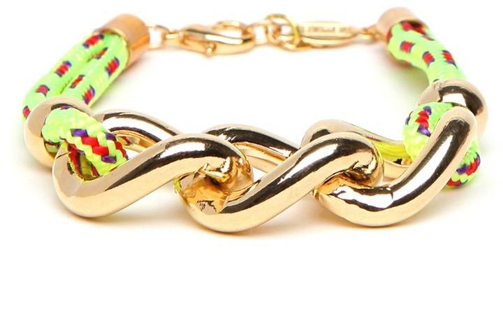 Cord and Chain Bangle