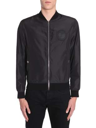 Versace Bomber Jacket With Logo Patch
