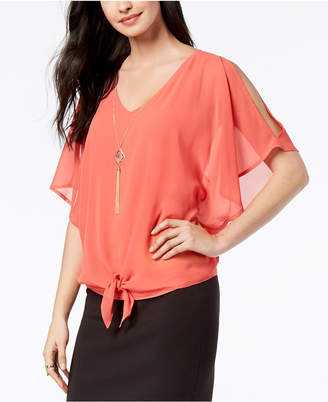Thalia Sodi Tie-Front Necklace Top, Created for Macy's