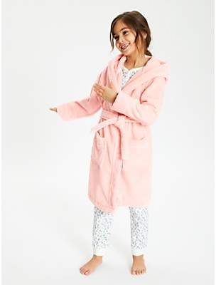 John Lewis & Partners Girls' Towelling Robe, Pink