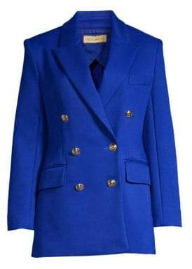 Escada Women's Double-Breasted Blazer - Blue - Size 36 (6)