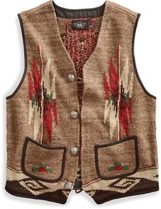 Ralph Lauren Southwestern Linen-Blend Vest