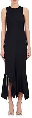 Victoria Beckham Women's Ribbed Asymmetric-Hem Midi-Dress