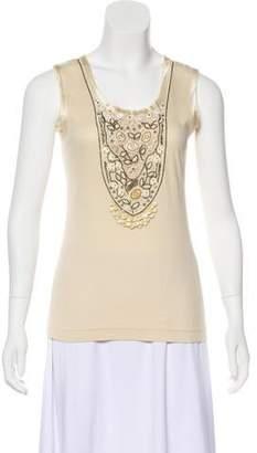 Blumarine Embellished Sleeveless Top