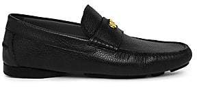 Versace Men's Carpa Leather Driving Loafers