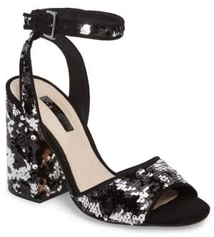 Topshop Reaction Sequin Block Heel Sandal