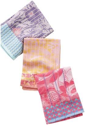 Anthropologie Elsa Jacquard Cotton 3-Piece Dishtowel Set