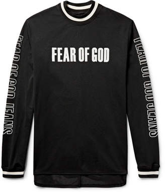 Fear of God Oversized Printed Mesh Motocross Jersey $695 thestylecure.com