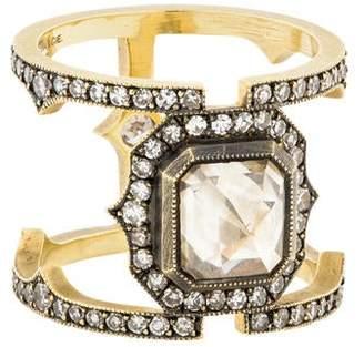 Sylva + Cie 18K Diamond Cage Ring
