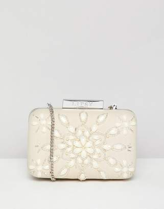 Lipsy Beaded Box Clutch Bag