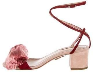 Aquazzura Suede Lotus Blossom Sandals w/ Tags