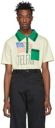 Telfar Beige Knit Logo Polo