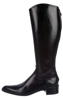 Rocco P. Leather Pointed-Toe Boots