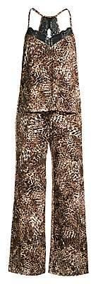 In Bloom Women's Wild Night Animal-Print Two-Piece Pajama Set