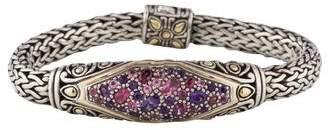 John Hardy Tourmaline & Amethyst Bracelet