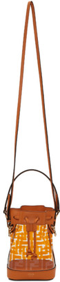 Fendi Transparent and Orange PU Mini Mon Tresor Bag