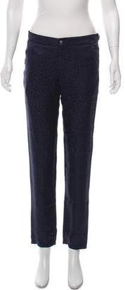 Roseanna Silk Mid-Rise Pants