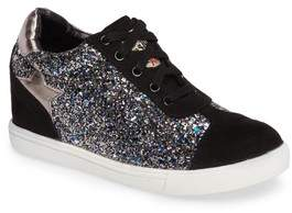 Ash Low Star Glittery Concealed Wedge Sneaker