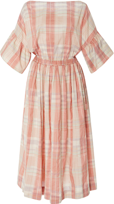 Ulla Johnson Neda Plaid Midi Dress $425 thestylecure.com