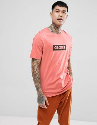 Globe T-Shirt With Box Logo In Coral