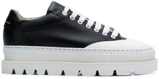 MM6 MAISON MARGIELA ridged platform sneakers