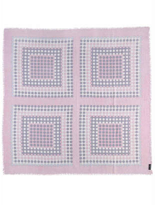 Fraas Dotted Blocks Square Scarf