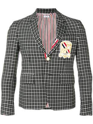 Thom Browne Windowpane Tartan Sport Coat