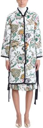 Tory Burch Floral Jacquard Reversible Coat