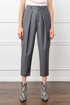 J.ING Oliver Grey Cropped Trousers