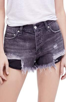 Free People Loving Good Vibrations Cutoff Denim Shorts