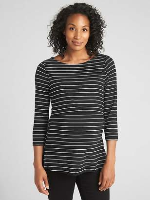 Gap Maternity Stripe Layer Nursing T-Shirt