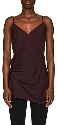 Helmut Lang Women's Gathered Polished Twill Cami