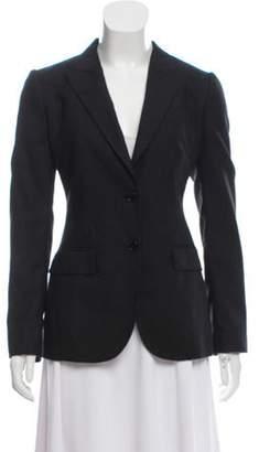Dolce & Gabbana Wool Pinstripe Blazer Black Wool Pinstripe Blazer