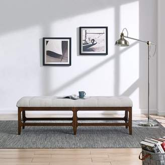 Southern Enterprises Ahao Upholstered Entryway Bench, Espresso