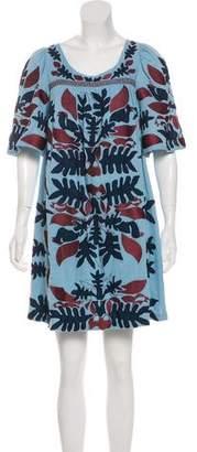Antik Batik Embroidered Mini Dress