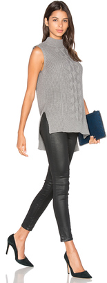 Michael Stars Sleeveless Mock Neck Cabled Tunic $128 thestylecure.com