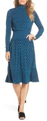 MICHAEL Michael Kors Foulard Smocked Midi Dress