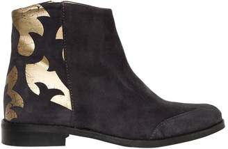 Zadig & Voltaire Printed Suede Ankle Boots