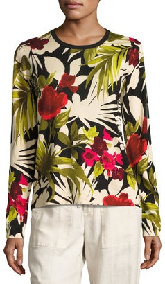 Tommy Bahama Victoria Blooms Pullover Sweater, Multi $89 thestylecure.com