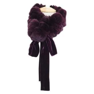 Christian Dior Purple Rabbit Scarves