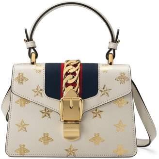 bf8709e60e82 Gucci Small Sylvie Top Handle Leather Shoulder Bag