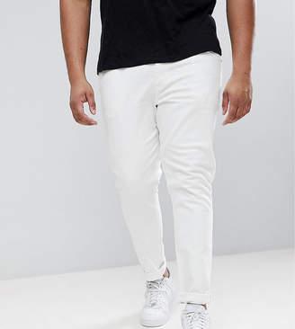 Asos DESIGN Plus skinny jeans in white