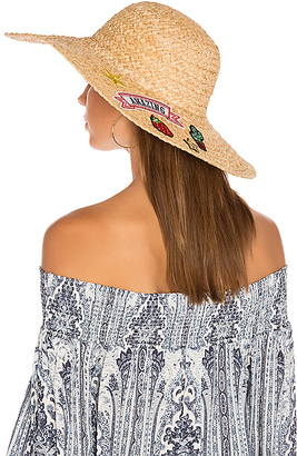 Hat Attack Patch Sunhat in Tan. $96 thestylecure.com